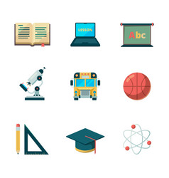 back to school flat icon education learning vector image