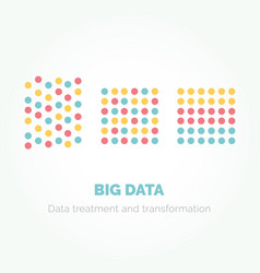 Big data minimalistic infographics design vector