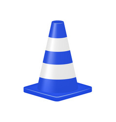 Blue traffic cone vector