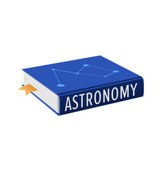 Book on astronomy with bookmark vector