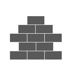 brick wall icon simple vector image