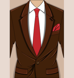 brown man suit vector image