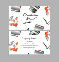 business card of office tools vector image