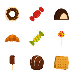 Candies icon set flat style vector