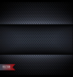 Carbon metal background with small holes vector