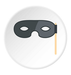 Carnival mask icon circle vector