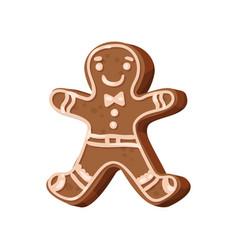 christmas gingerbread man traditional festive vector image