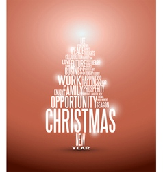 Christmas tree typography vector