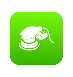 Circular sheet sander icon green vector