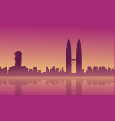 City tour malaysia singapore landscape vector