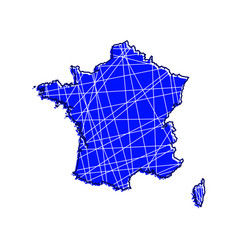 colored france map vector image