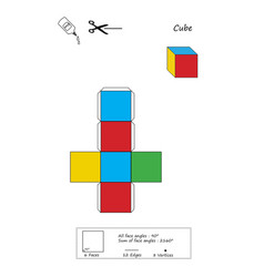 Colorful cube origami vector