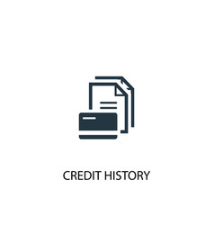 Credit history icon simple element vector