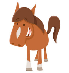 Cute horsepr pony farm animal vector