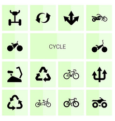 Cycle icons vector
