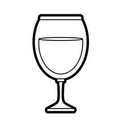 Delicious wine drink cup vector