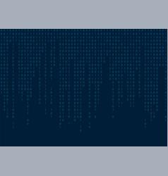 digital binary code seamless pattern blue vector image