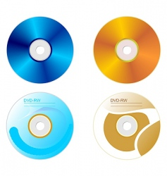 dvd disk set vector image