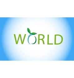 Eco-world vector image