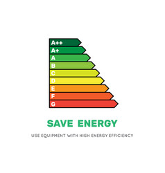 Energy efficiency rating icon vector