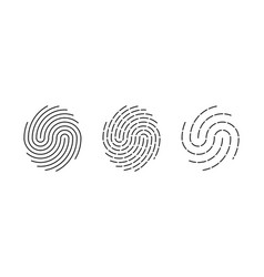 fingerprint identification icon biometric vector image