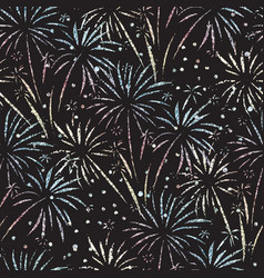 Firework seamless pattern glitter foil vector