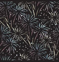 firework seamless pattern glitter foil vector image