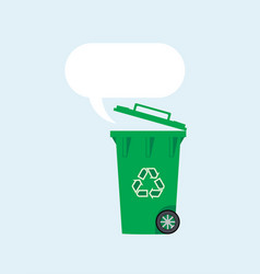 flat recycling wheelie bin vector image
