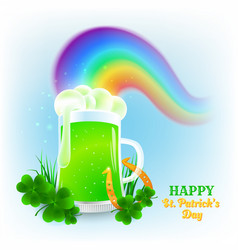 For st patricks day with green vector