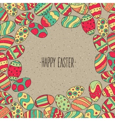 Frame from Easter eggs vector image