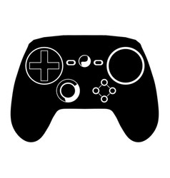 gaming pad silhouette vector image