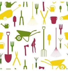 Garden Tools Instruments Flat Icon Collection Set vector image