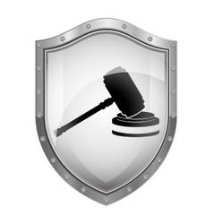 Gavel justice and law concept vector image