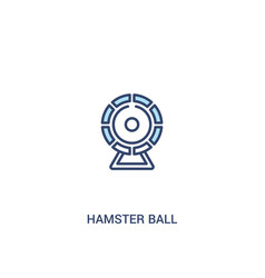 Hamster ball concept 2 colored icon simple line vector