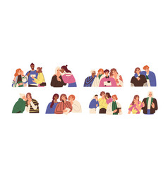 happy and unhappy people gossiping whispering in vector image