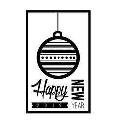 happy new year poster vector image