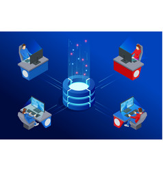 isometric cybersports competition cybersport vector image