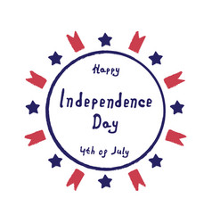 Label independence day vector