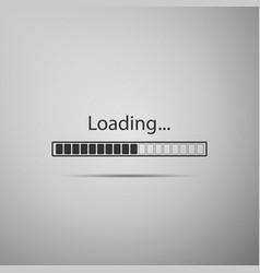 loading icon on grey background progress bar icon vector image