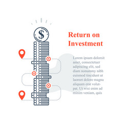 Long term investment strategy stock market vector