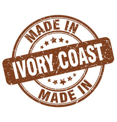 Made in ivory coast vector