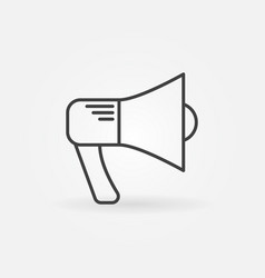 Megaphone outline icon vector