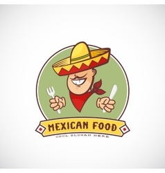 Mexican Food Abstract Sign or Logo Template vector