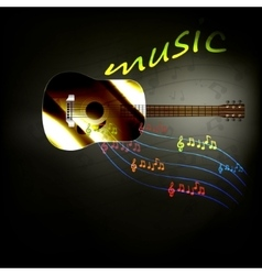 music guitar vector image