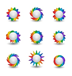 Rainbow buttons vector image