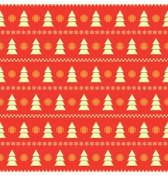 Seamless background with fir trees vector image