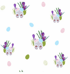seamless pattern whit easter bunny vector image