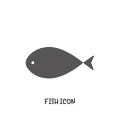 simple fish icon simple flat style vector image