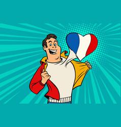 sports fan loves france vector image