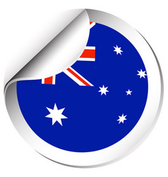 sticker design for flag of australia vector image